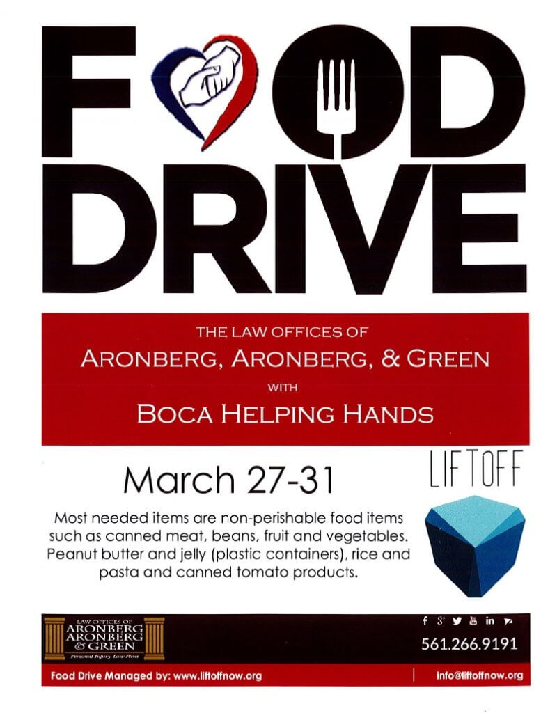 Food Drive This Week – Support Boca Helping Hands