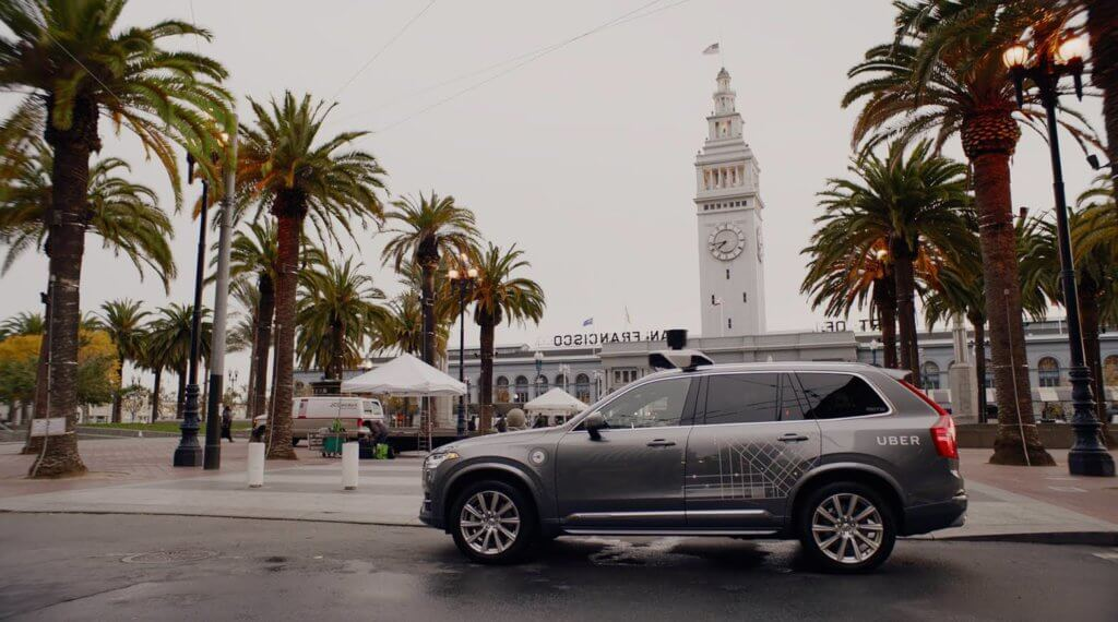 Uber self driving Volvo - Autonomous Vehicle