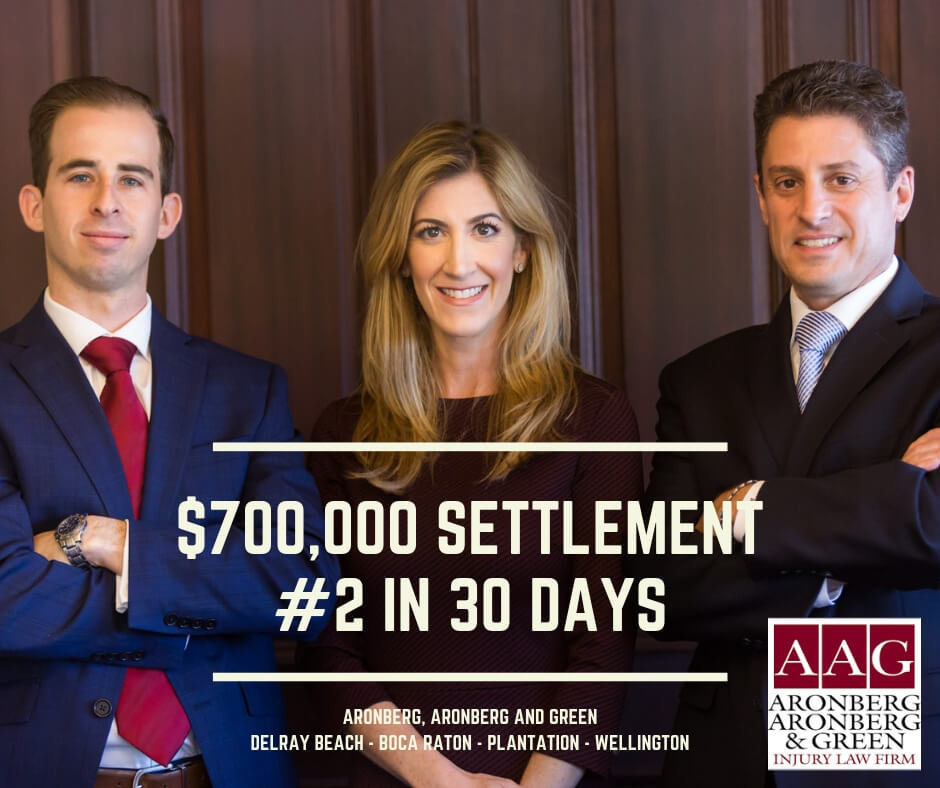 AAG accident lawyers Delray Beach Settlements - $700,000