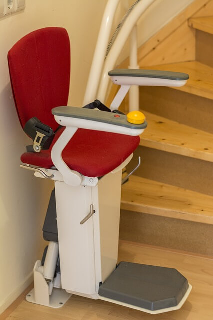 stair-lift - keeping elderly parents safe