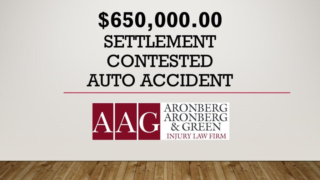 $650,000 Auto Accident Settlement – Rare Medical Emergency Defense